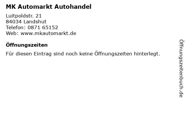 MK Automarkt Autohandel in Landshut: Adresse und Öffnungszeiten