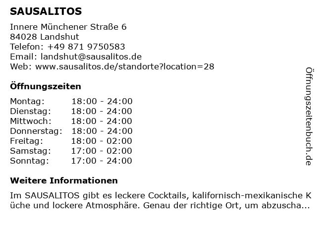 SAUSALITOS in Landshut: Adresse und Öffnungszeiten
