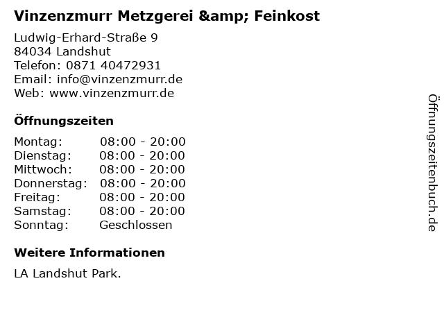 Vinzenzmurr Metzgerei & Feinkost in Landshut: Adresse und Öffnungszeiten