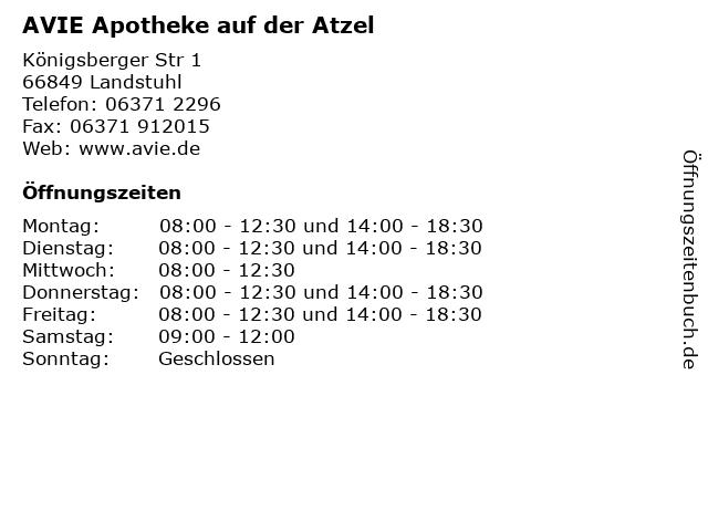 AVIE Apotheke auf der Atzel in Landstuhl: Adresse und Öffnungszeiten