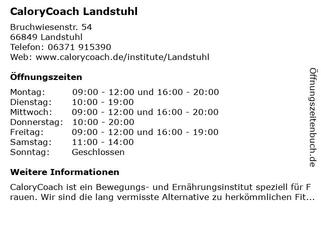 CaloryCoach Landstuhl in Landstuhl: Adresse und Öffnungszeiten