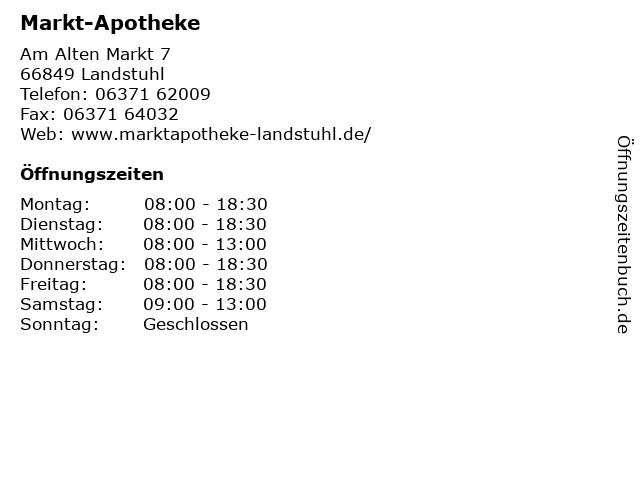 Markt-Apotheke in Landstuhl: Adresse und Öffnungszeiten