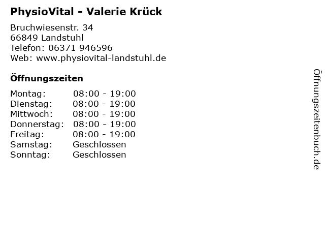 PhysioVital - Valerie Krück in Landstuhl: Adresse und Öffnungszeiten