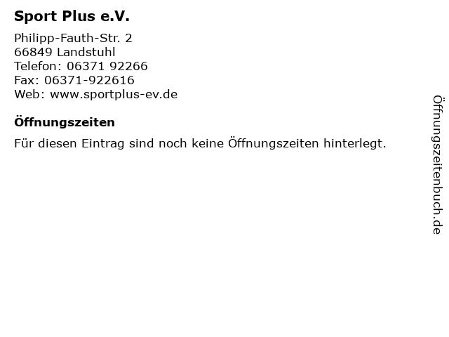 Sport Plus e.V. in Landstuhl: Adresse und Öffnungszeiten