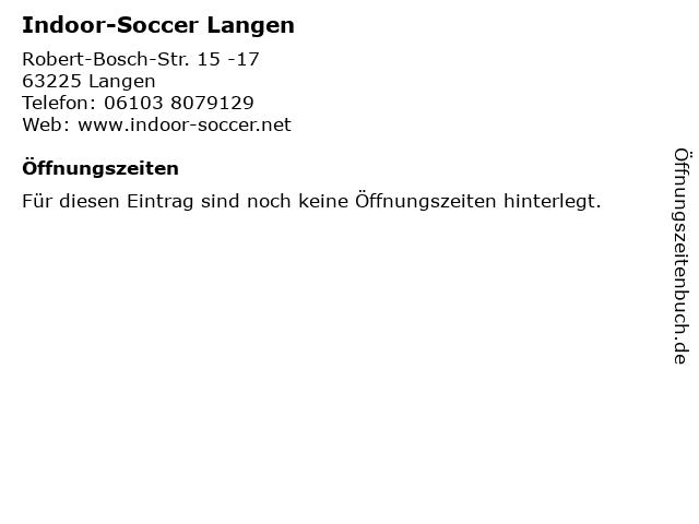 Indoor-Soccer Langen in Langen: Adresse und Öffnungszeiten