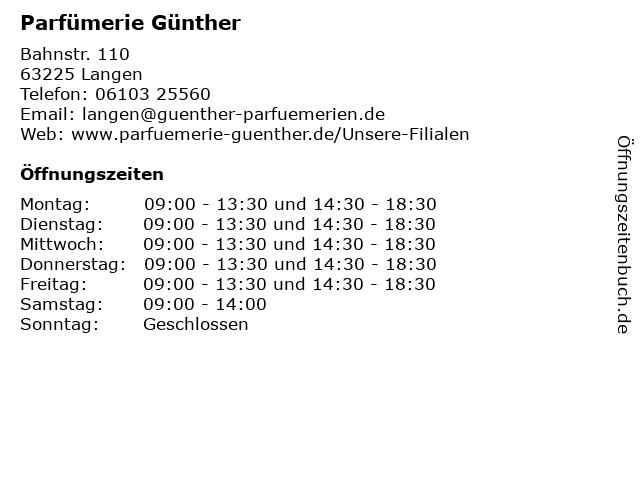 Parfümerie D'or GmbH Nora Freitag u. Carmen Dorn in Langen: Adresse und Öffnungszeiten
