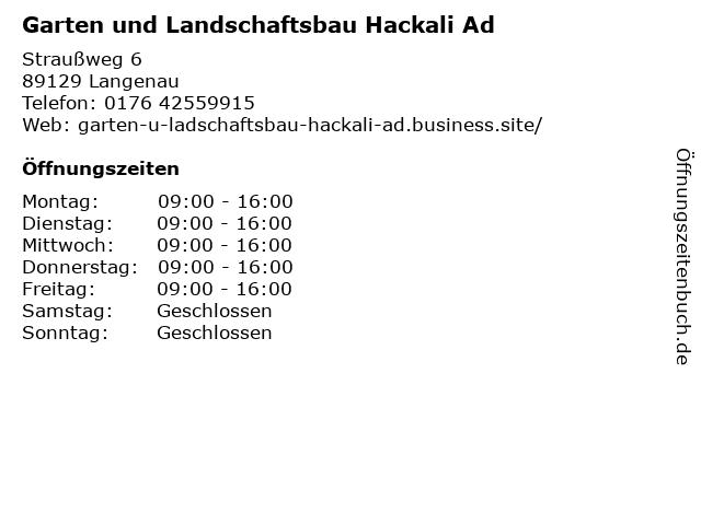 Garten und Landschaftsbau Hackali Ad in Langenau: Adresse und Öffnungszeiten