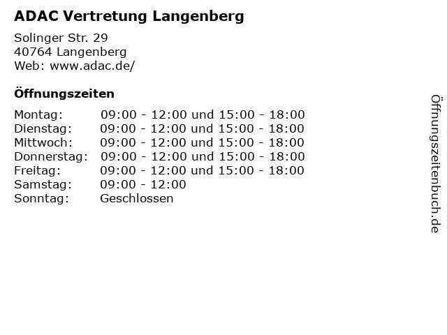 ADAC Vertretung Langenberg in Langenberg: Adresse und Öffnungszeiten