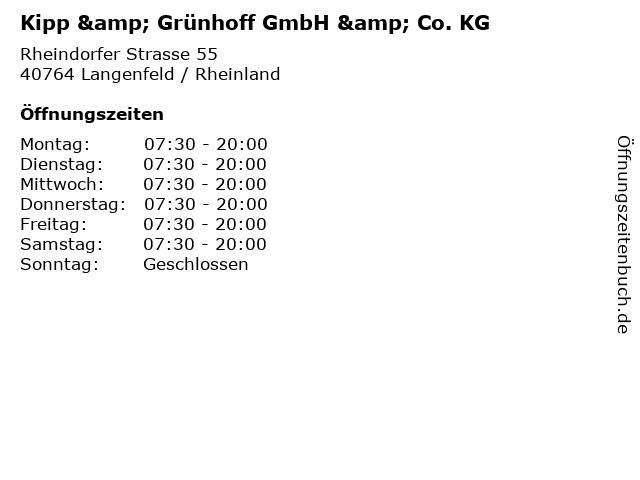 Kipp & Grünhoff GmbH & Co. KG in Langenfeld / Rheinland: Adresse und Öffnungszeiten