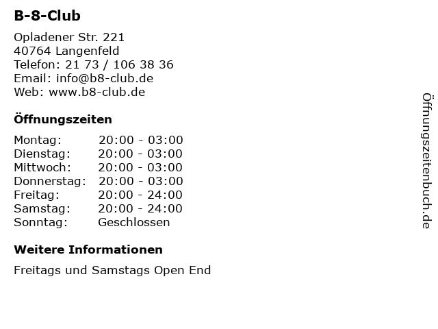 club b8 langenfeld