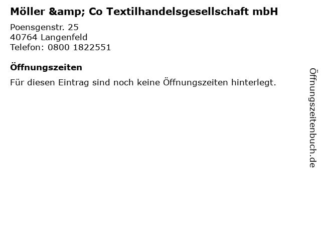 Möller & Co Textilhandelsgesellschaft mbH in Langenfeld: Adresse und Öffnungszeiten