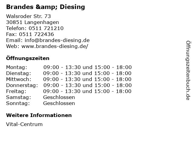 Brandes & Diesing in Langenhagen: Adresse und Öffnungszeiten