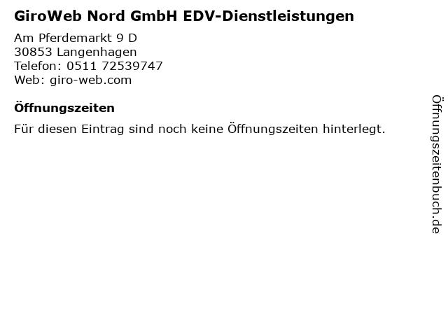 GiroWeb Nord GmbH EDV-Dienstleistungen in Langenhagen: Adresse und Öffnungszeiten