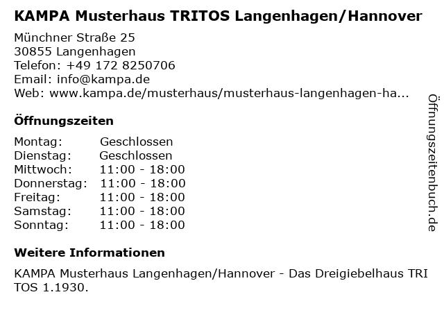 KAMPA Musterhaus TRITOS Langenhagen/Hannover in Langenhagen: Adresse und Öffnungszeiten