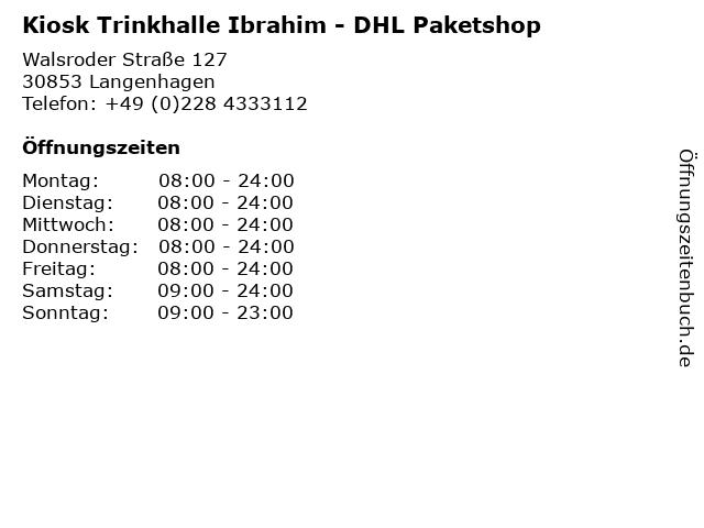 Kiosk Trinkhalle Ibrahim - DHL Paketshop in Langenhagen: Adresse und Öffnungszeiten