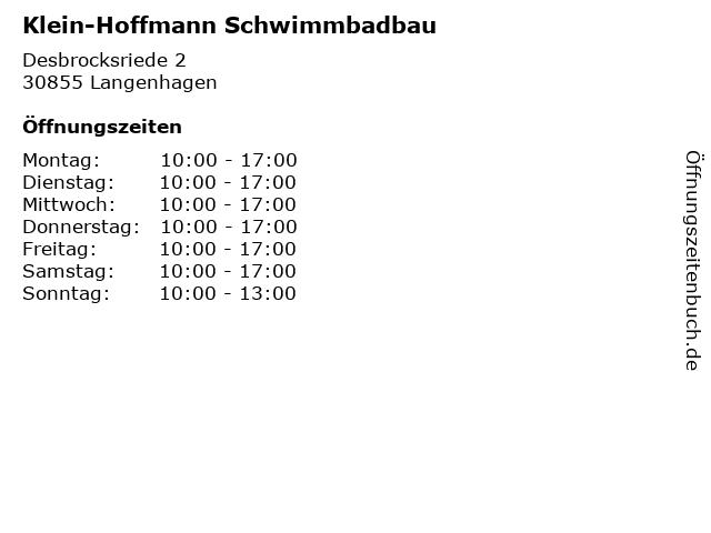 Klein-Hoffmann Schwimmbadbau in Langenhagen: Adresse und Öffnungszeiten