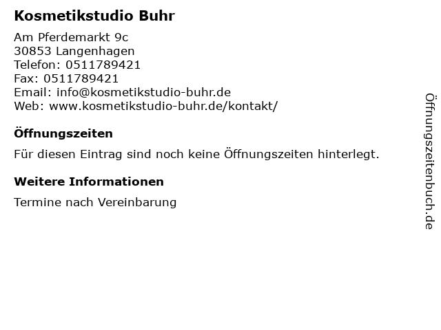 Kosmetikstudio Buhr in Langenhagen: Adresse und Öffnungszeiten