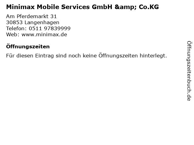 Minimax Mobile Services GmbH & Co.KG in Langenhagen: Adresse und Öffnungszeiten