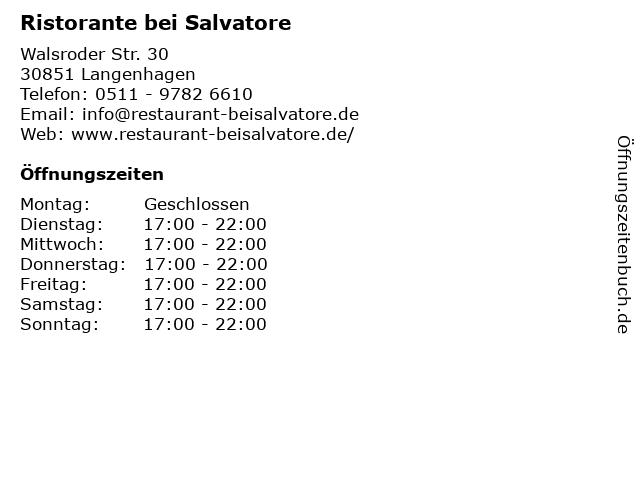 Ristorante La Fisarmonica in Langenhagen: Adresse und Öffnungszeiten