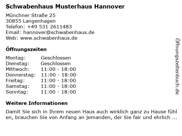 Schwabenhaus Musterhaus Hannover in Langenhagen: Adresse und Öffnungszeiten