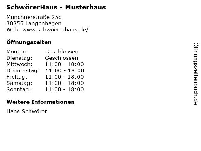 SchwörerHaus - Musterhaus in Langenhagen: Adresse und Öffnungszeiten