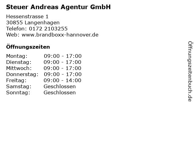 Steuer Andreas Agentur GmbH in Langenhagen: Adresse und Öffnungszeiten