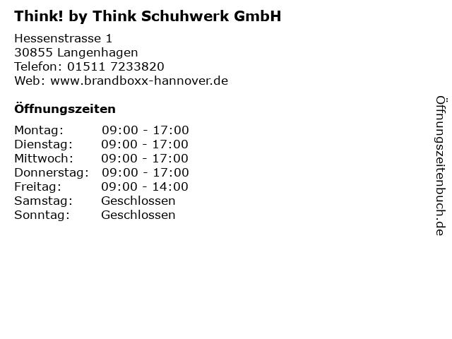 Think! by Think Schuhwerk GmbH in Langenhagen: Adresse und Öffnungszeiten