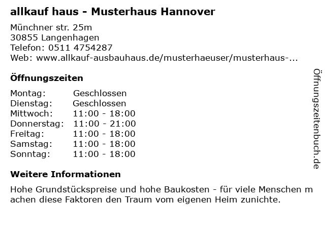allkauf haus - Musterhaus Hannover in Langenhagen: Adresse und Öffnungszeiten