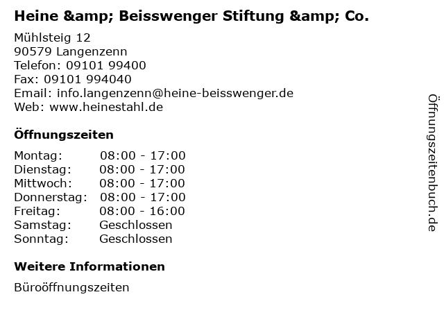 """preview of 100% authentic popular brand ᐅ Öffnungszeiten """"Heine & Beisswenger Stiftung & Co ..."""
