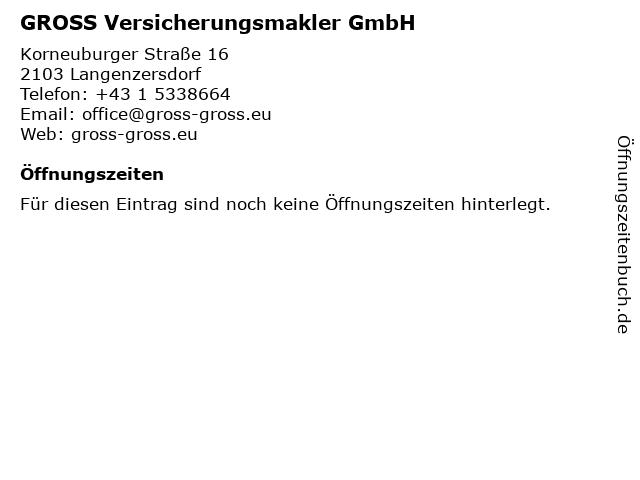 GROSS Versicherungsmakler GmbH in Langenzersdorf: Adresse und Öffnungszeiten
