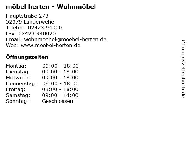ᐅ öffnungszeiten Möbel Herten Wohnmöbel Hauptstraße 273 In