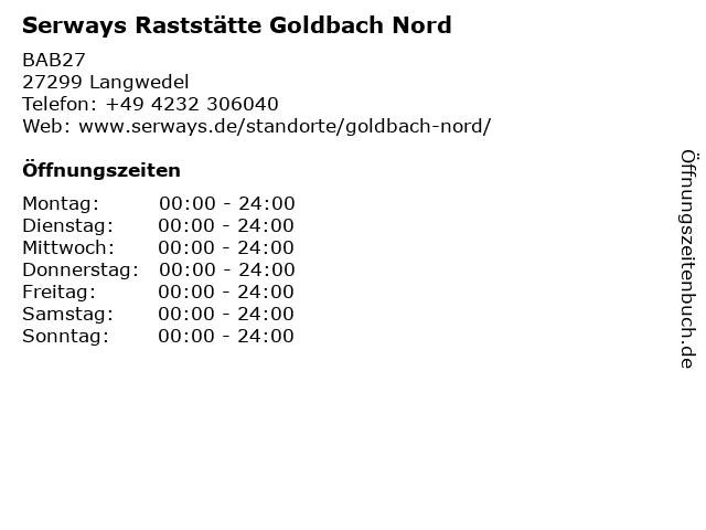 Autobahn Tank & Rast GmbH, Goldbach Nord in Langwedel: Adresse und Öffnungszeiten