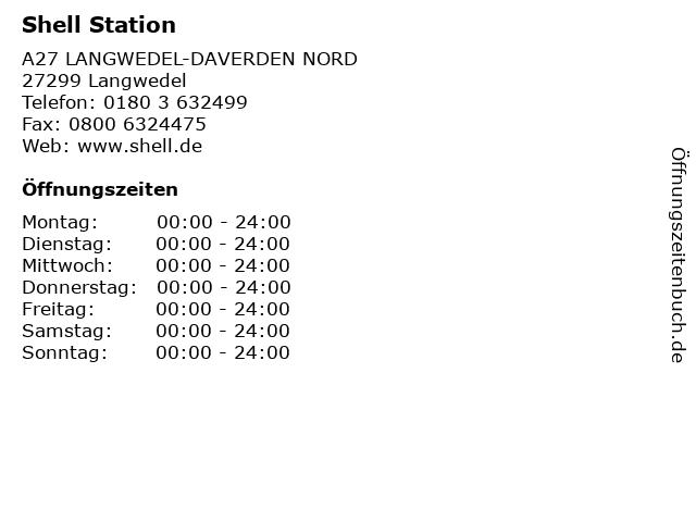 Shell Station in Langwedel: Adresse und Öffnungszeiten