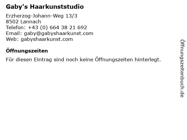 Gaby's Haarkunststudio in Lannach: Adresse und Öffnungszeiten