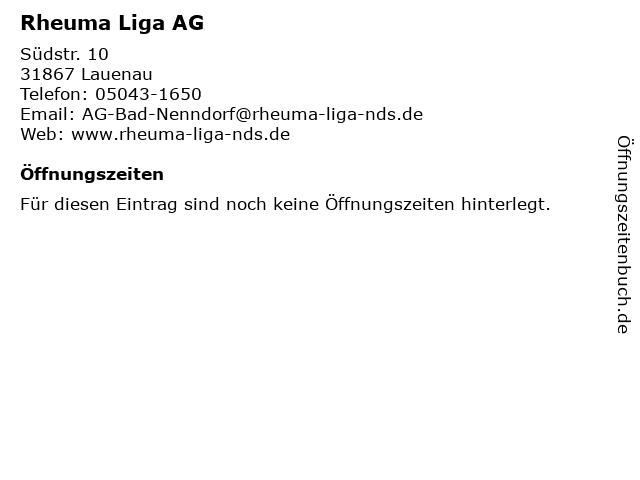 Rheuma Liga AG in Lauenau: Adresse und Öffnungszeiten