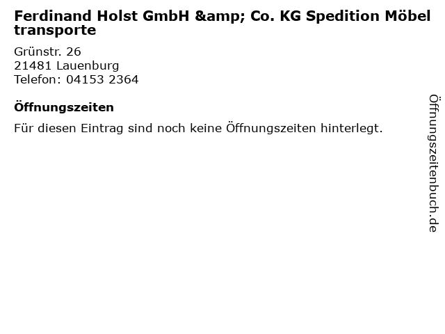 ᐅ öffnungszeiten Ferdinand Holst Gmbh Co Kg Spedition