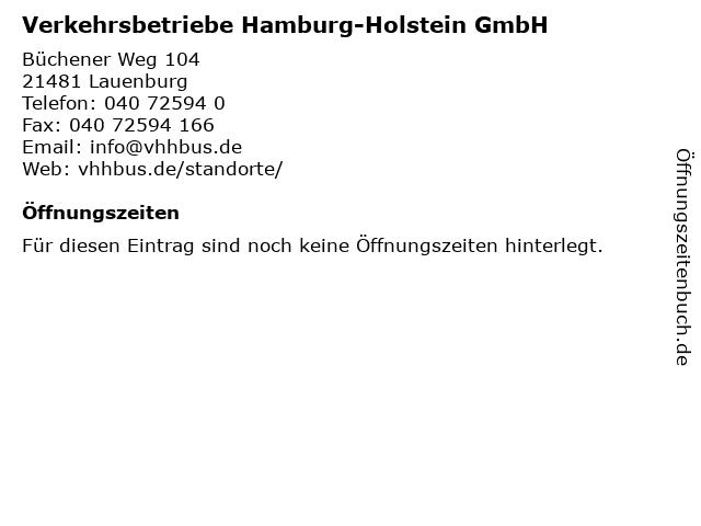 Verkehrsbetriebe Hamburg-Holstein GmbH in Lauenburg: Adresse und Öffnungszeiten