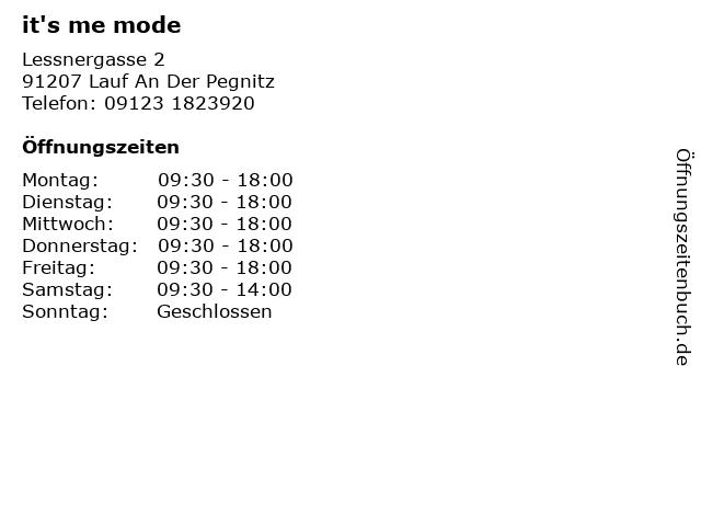 it's me mode in Lauf An Der Pegnitz: Adresse und Öffnungszeiten