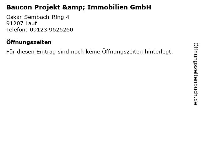 Baucon Projekt & Immobilien GmbH in Lauf: Adresse und Öffnungszeiten