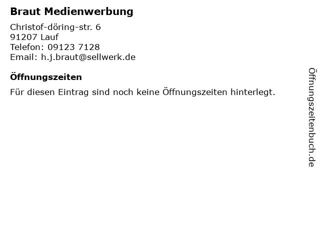 Braut Medienwerbung in Lauf: Adresse und Öffnungszeiten
