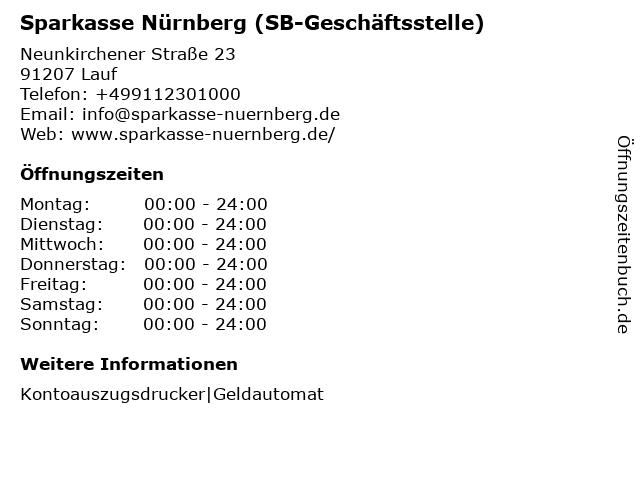 Sparkasse Nürnberg - (SB-Filiale Heuchling) in Lauf: Adresse und Öffnungszeiten