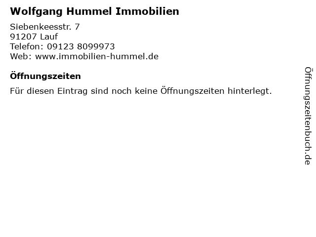Wolfgang Hummel Immobilien in Lauf: Adresse und Öffnungszeiten