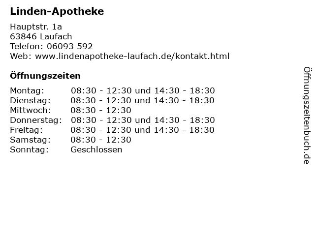 Linden-Apotheke in Laufach: Adresse und Öffnungszeiten