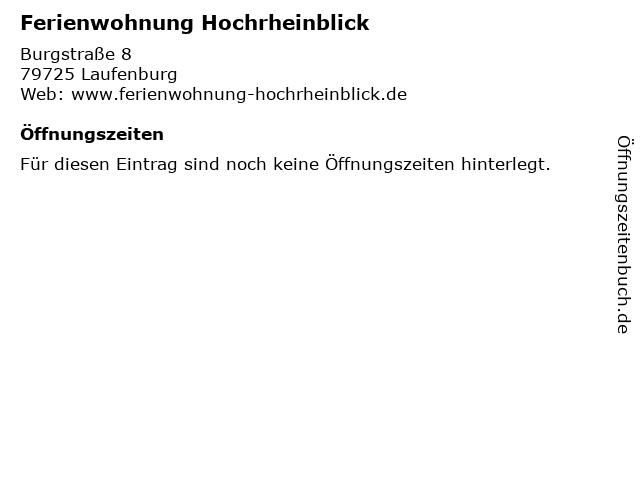 Ferienwohnung Hochrheinblick in Laufenburg: Adresse und Öffnungszeiten