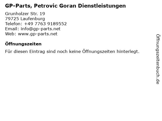 GP-Parts, Petrovic Goran Dienstleistungen in Laufenburg: Adresse und Öffnungszeiten