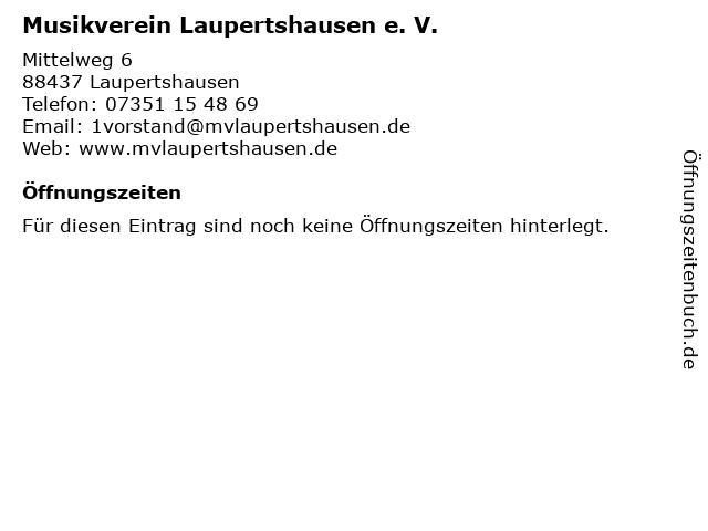 Musikverein Laupertshausen e. V. in Laupertshausen: Adresse und Öffnungszeiten
