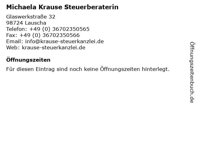 Michaela Krause Steuerberaterin in Lauscha: Adresse und Öffnungszeiten