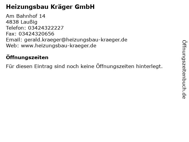 Heizungsbau Kräger GmbH in Laußig: Adresse und Öffnungszeiten