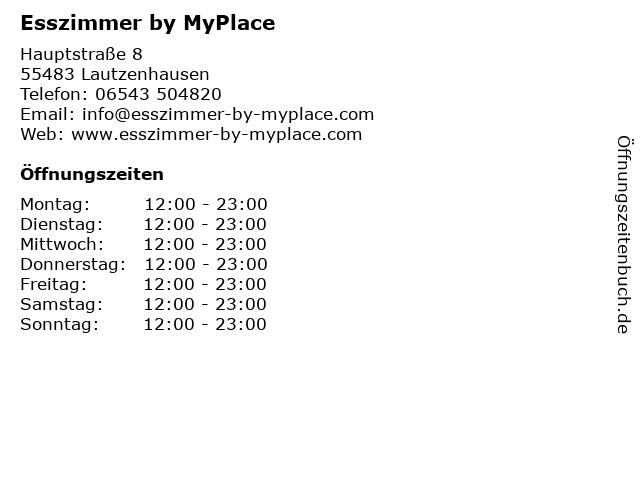 My Place Hotel in Lautzenhausen: Adresse und Öffnungszeiten