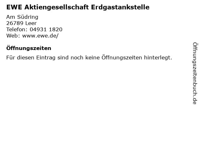 EWE Aktiengesellschaft Erdgastankstelle in Leer: Adresse und Öffnungszeiten